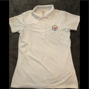 Steelers polo white golf shirt, NEW!